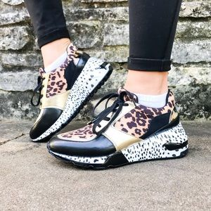 Steve Madden Cliff Animal Sneakers : Leopard